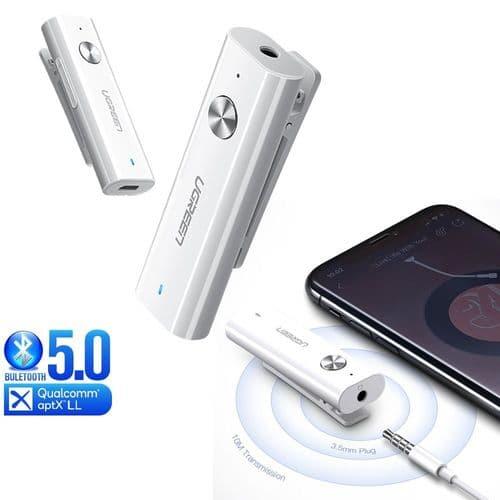 Récepteur Bluetooth 5.0 Aptx Ll Adaptateur Audio Sans Fil 3,5Mm Microphone